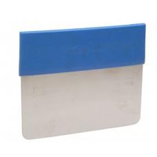 """Rigid Stainless Steel Scraper / Dough Scraper w/Plastice Detectable Grip 6"""" x 5"""""""