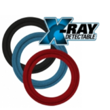 X-RAY INSPECTABLE AND METAL DETECTABLE TRI-CLAMP® LARGE SIZE GASKETS TYPE I AND TYPE II (FLANGED)-SILICONE