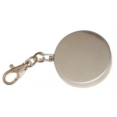 "2"" Diameter Stainless Steel Key Ring with 48"" Retractable Stainless Steel Cable"